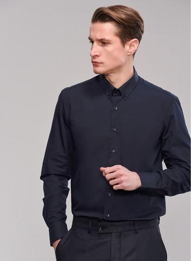 People By Fabrika Düğmeli Yaka Gömlek Lacivert